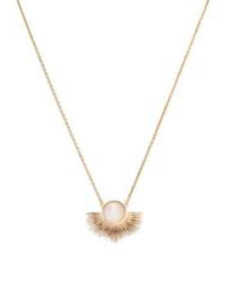 Pegasus Necklace - Gold/Moonstone