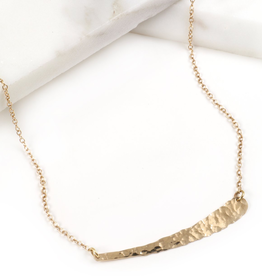 Hammered Gold Vermeil Bar Slice Necklace