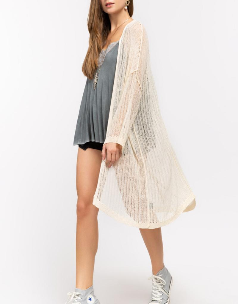 Women's Clothing Open Knit Weave Lightweight Cardigan