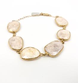 Dayna Tennis Bracelet - 18k GV Mystic Rose Quartz
