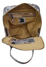 Zora- 100% Leather Backpack W/ Magnetic Back Pocket, Front Zip Pocket, Top Handle, Side Pocket, Floral, black, or Taupe