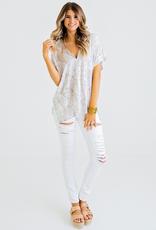 Women's Clothing Snake Print V Neck Tunic