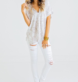 Women's Clothing Snake Print V Neck Tunic