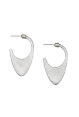 Laos Dome Earrings - sterling silver. stone polished