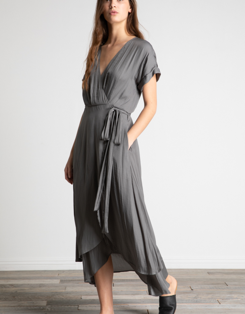 Women's Clothing V-Neck Double Wrap Dress