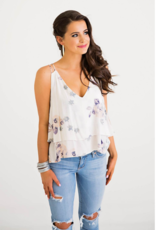 Women's Clothing Floral Tier Vneck Slip Tank