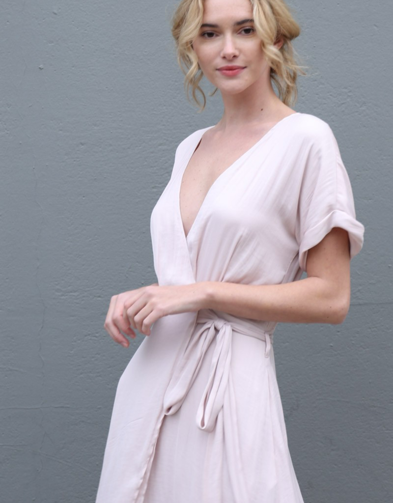 Women's Clothing V-Neck Double Wrap Dress