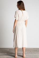 Women's Clothing V Neck Cinched Waist Dress