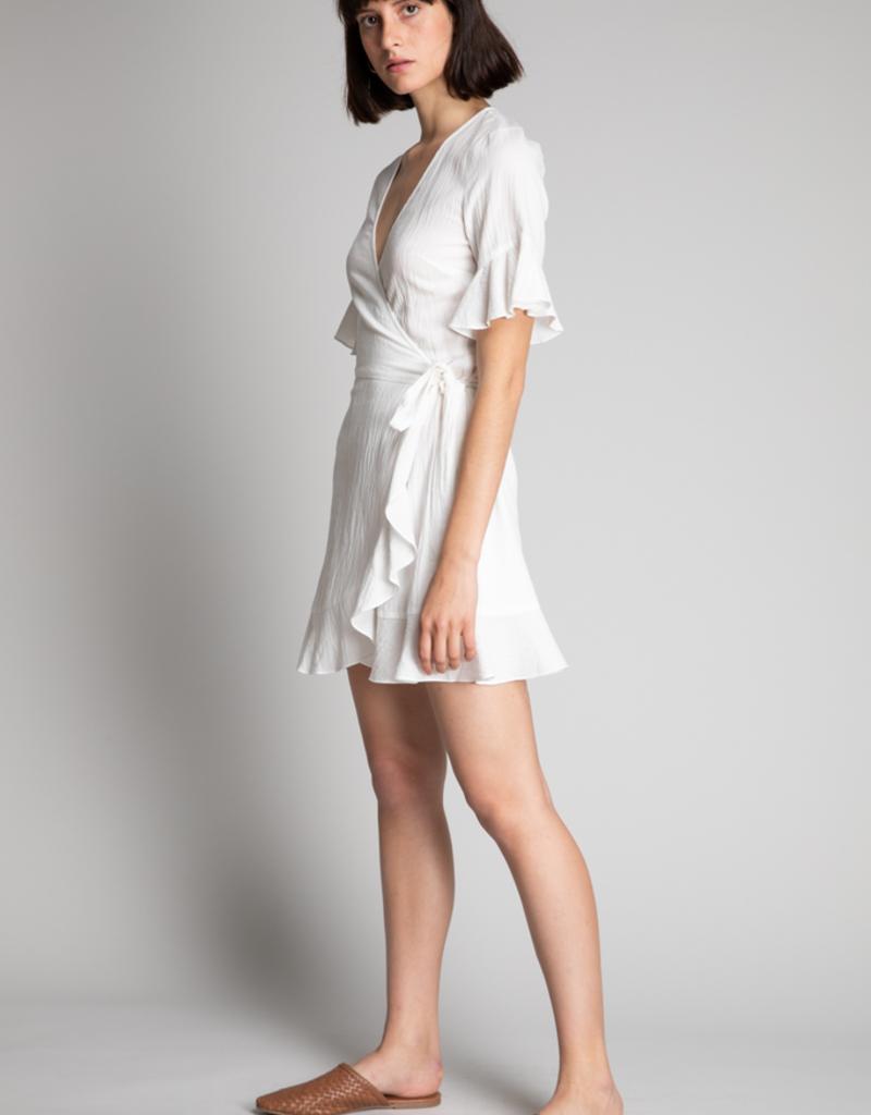 Women's Clothing Ruffle Wrap Dress