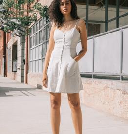 Women's Clothing Front Button Stripe Dress