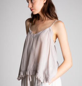 Women's Clothing Textured Ruffle Edge Cami