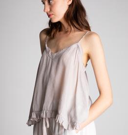 Women's Clothing Textured Ruffle Edge Cami
