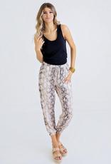 Women's Clothing Snake Print Jogger Pants