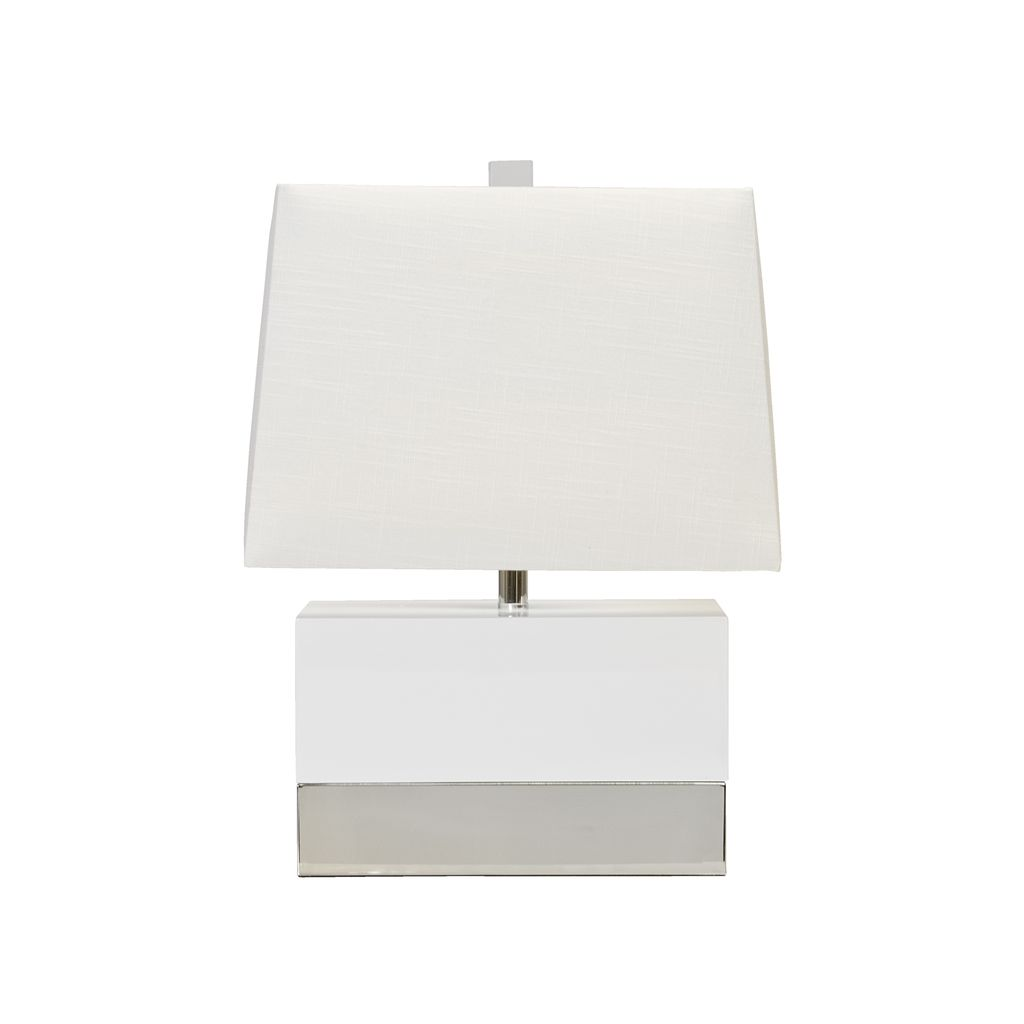 WHITE NICKEL LAMP