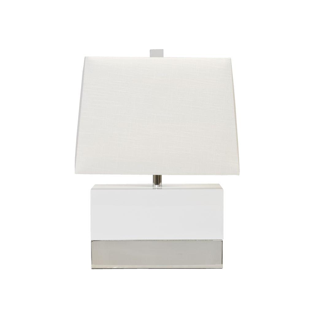 WHITE NICKEL LAMP