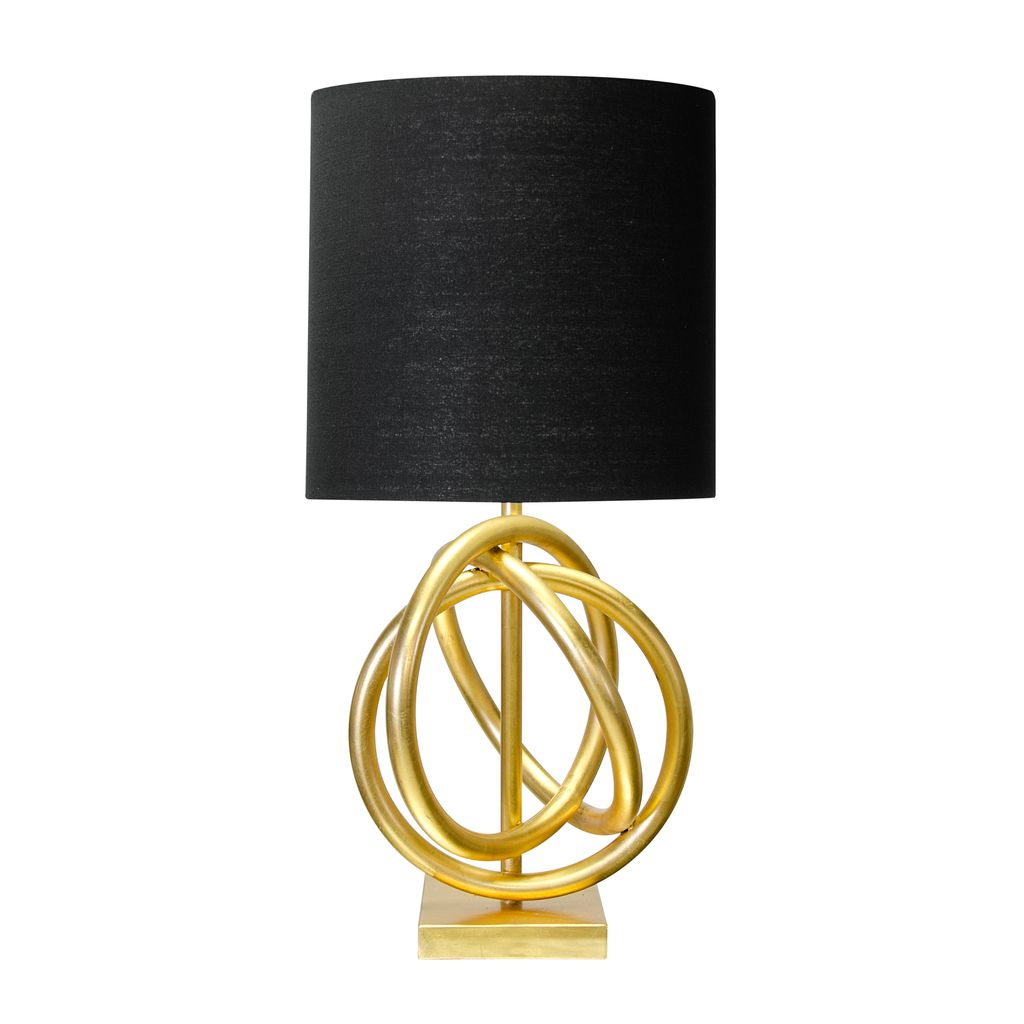 NATHAN BLACK AND GOLD LEAFED LAMP