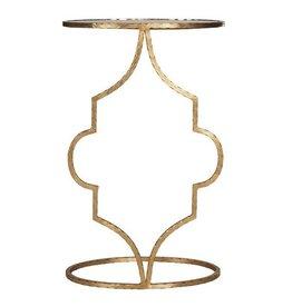 HAMMERED GOLD LEAF OVAL CIGAR TABLE