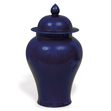 COBALT SMALL TEMPLE JAR