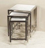 MORO HIDE NESTING TABLES (SET OF 3)