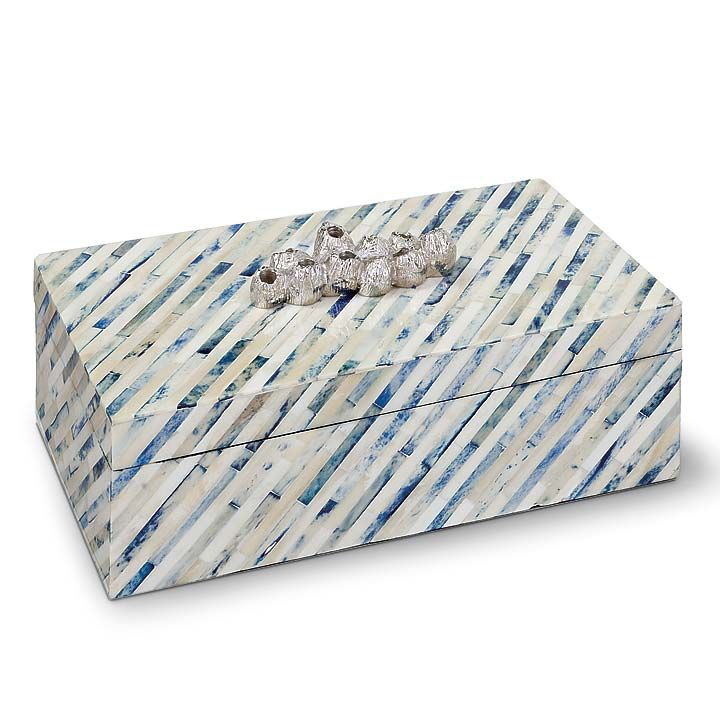 INDIGO STRIP BOX-LARGE