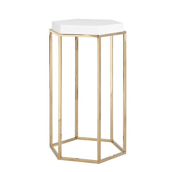 WORLDS AWAY ELSA BRASS SIDE TABLE