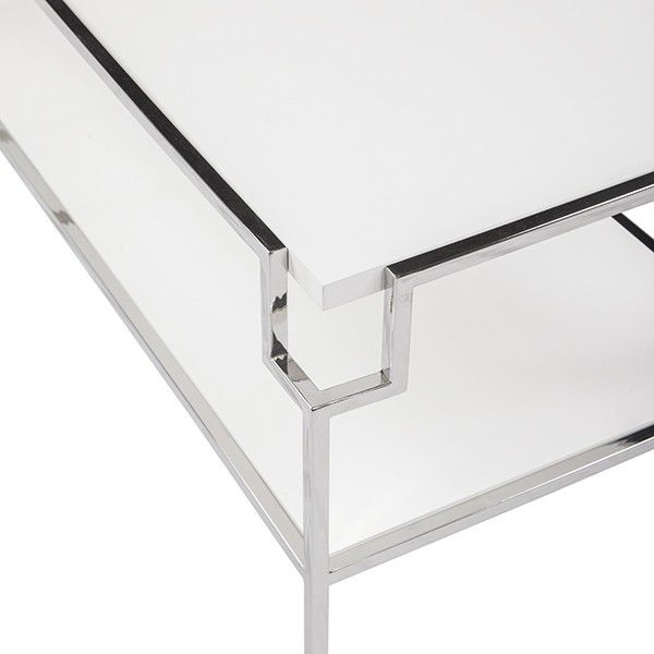 WORLDS AWAY HELEN NICKEL COFFEE TABLE