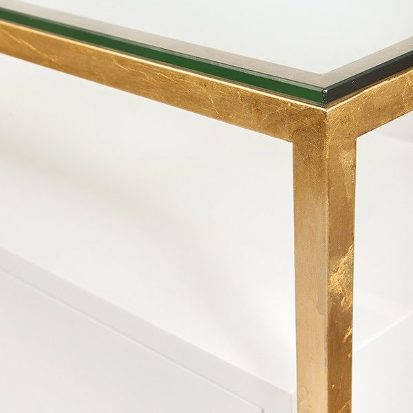 WORLDS AWAY JUNO GOLD CABINET