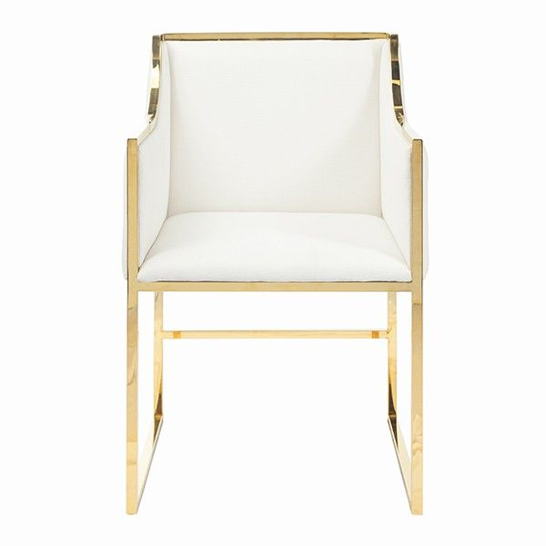 WORLDS AWAY ANNABELLE BRASS CHAIR