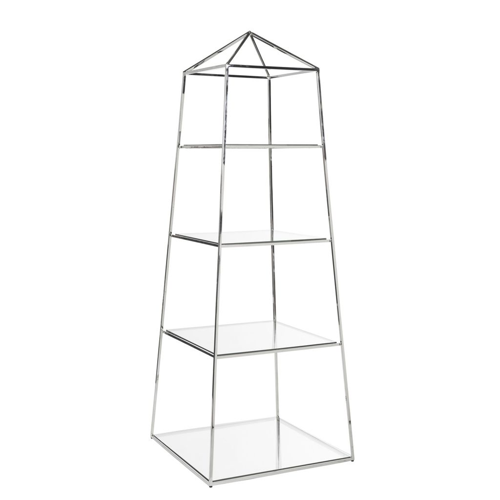 WORLDS AWAY NICKEL PIPER ETAGERE