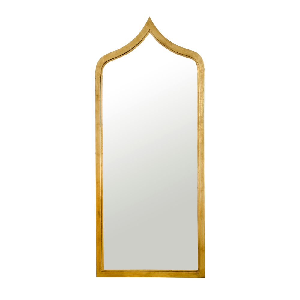 WORLDS AWAY ADINA GOLD LEAF MIRROR