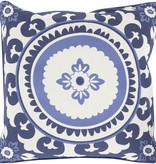 SURYA CELESTIAL SKY BLUE & IVORY DECORATIVE PILLOW