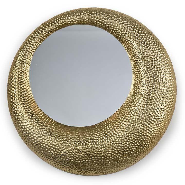 REGINA ANDREW HAMMERED MIRROR - GOLD