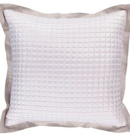 SURYA QUILTED PILLOW IN LIGHT GRAY