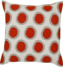 SURYA IKAT DOTS PILLOW IN POPPY