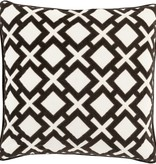 SURYA ALEXANDRIA PILLOW IN BLACK & IVORY