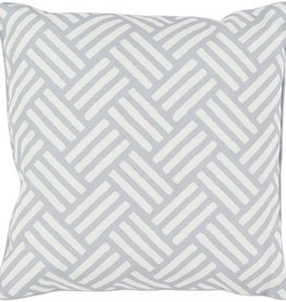 SURYA BASKETWEAVE PILLOW IN LIGHT GRAY