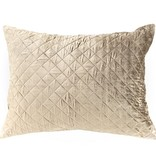 VELVET DIAMOND MOSS CONTINENTAL PILLOW