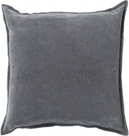 SURYA COTTON VELVET PILLOW IN CHARCOAL