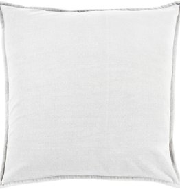 SURYA COTTON VELVET PILLOW IN LIGHT GRAY