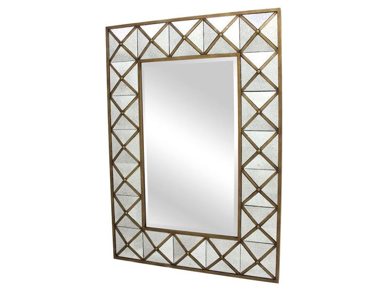 SURYA WALL DECOR- AGED GOLD MIRROR