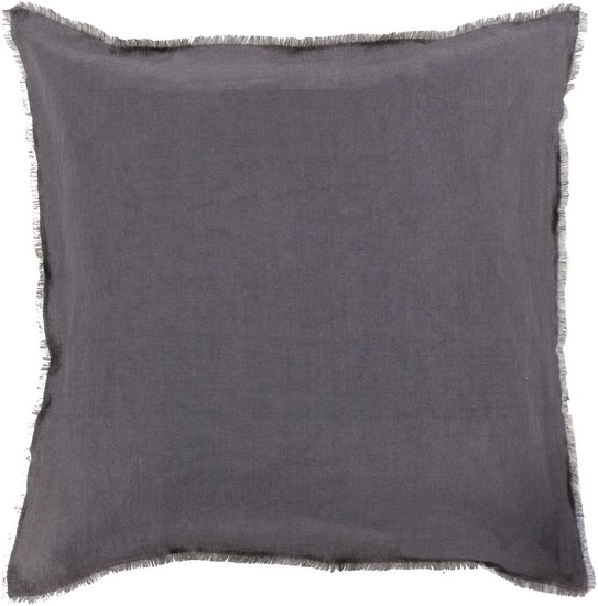 SURYA EYELASH PILLOW IN GRAY/LIGHT GRAY