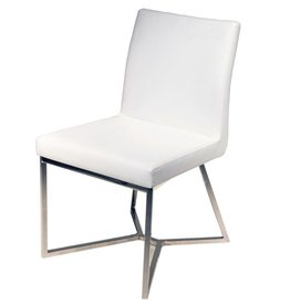NUEVO PATRICE DINING CHAIR IN WHITE