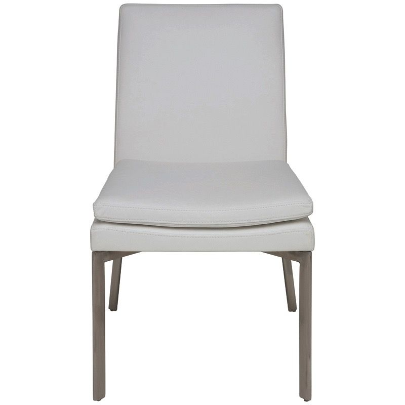 NUEVO DANTE DINING CHAIR IN WHITE LEATHER
