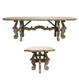 BLISS STUDIO SCROLL FARM TABLE