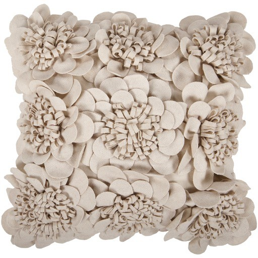 SURYA FELT GARDEN PILLOW IN BEIGE