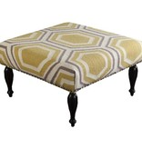 SURYA FURNITURE - UPHOLSTERED FALLON OTTOMAN