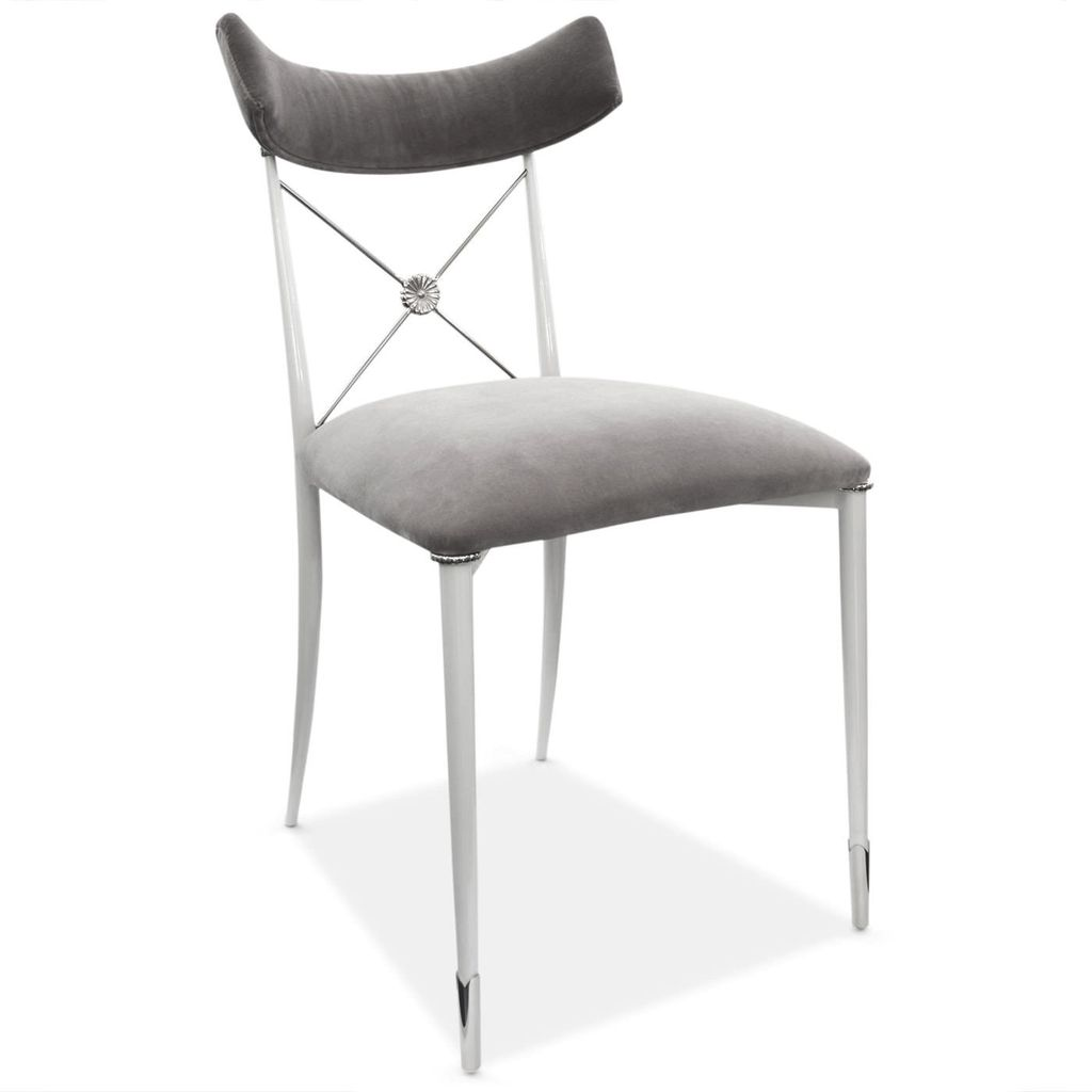 JONATHAN ADLER RIDER DINING CHAIR IN WHITE