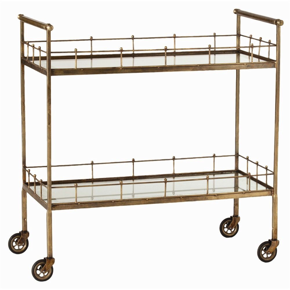 ARTERIORS BRASS LISBON BAR CART