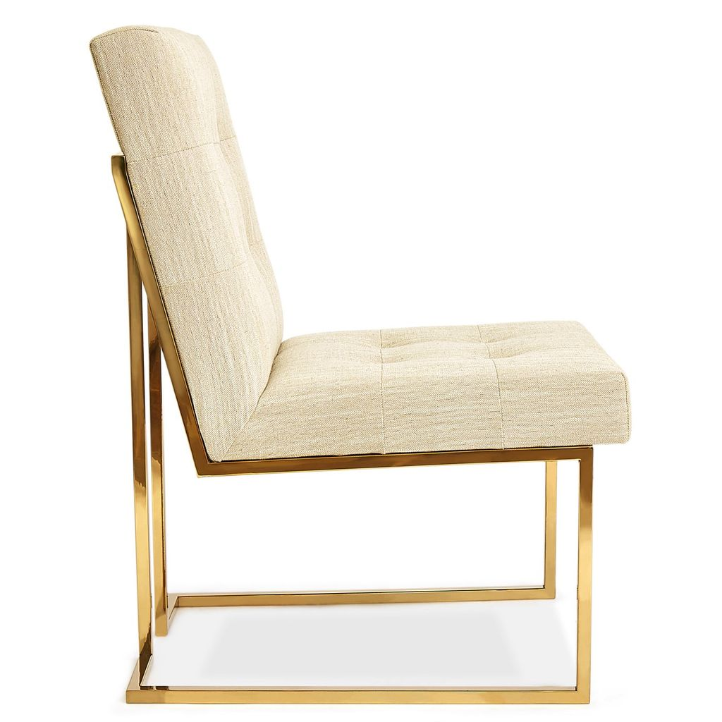 JONATHAN ADLER GOLDFINGER DINING CHAIR IN OATMEAL