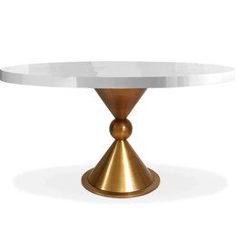 JONATHAN ADLER CARACAS DINING TABLE - GLOSS WHITE